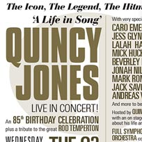 Quincey Jones at The o2 on Wednesday 27th June 2018