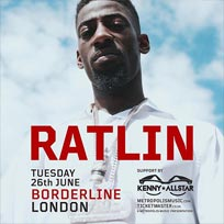 Ratlin at Borderline on Tuesday 26th June 2018