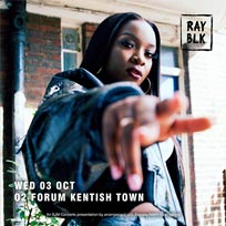 Ray BLK at The Forum on Wednesday 3rd October 2018