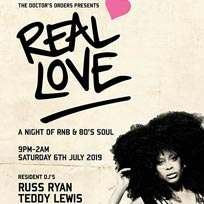 Real Love at Hoxton Square Bar & Kitchen on Saturday 6th July 2019