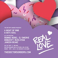 Real Love at Hoxton Square Bar & Kitchen on Saturday 3rd November 2018