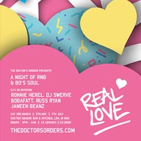 Real Love at Hoxton Square Bar & Kitchen on Saturday 1st September 2018