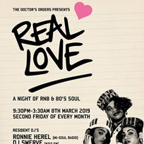 Real Love at Trapeze on Friday 8th March 2019