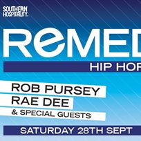 Remedy at Concrete on Saturday 28th September 2019