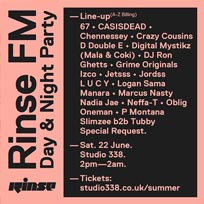 Summer Day & Night Party at Studio 338 on Saturday 22nd June 2019