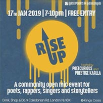 Rise Up at Drink, Shop & Do on Thursday 17th January 2019
