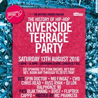 Riverside Terrace Party at Southbank Centre on Saturday 13th August 2016