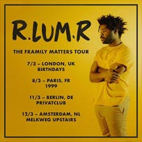 R.LUM.R  at Birthdays on Wednesday 7th March 2018