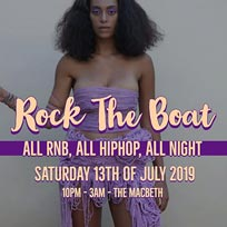 Rock the Boat at The Macbeth on Saturday 13th July 2019