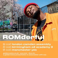ROMderful at Camden Assembly on Wednesday 2nd October 2019