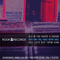 Rook Records DJs at Horse & Groom on Saturday 15th December 2018