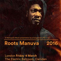 Roots Manuva London March 2016