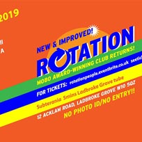 Rotation at Subterania on Saturday 30th March 2019