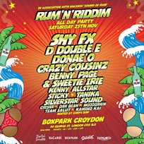 Rum'N'Riddim All Day Party at Boxpark Croydon on Saturday 25th November 2017