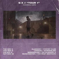 S-X at Borderline on Thursday 8th November 2018