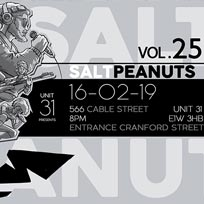 Salt Peanuts at 566 Cable Street on Saturday 6th April 2019