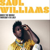 Saul Williams at Under the Bridge on Thursday 4th July 2019
