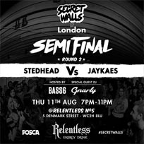 Secret Walls x London at Relentless Number Five on Thursday 11th August 2016
