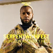 serpentwithfeet at Islington Assembly Hall on Tuesday 30th October 2018