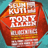 Seun Kuti + Tony Allen at The Forum on Friday 24th March 2017