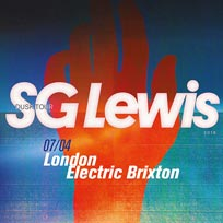 SG Lewis at Electric Brixton on Saturday 7th April 2018