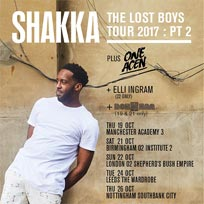 Shakka at Shepherd's Bush Empire on Sunday 22nd October 2017