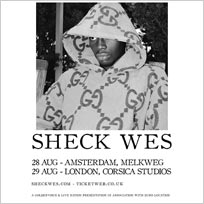 Sheck Wes at Corsica Studios on Wednesday 29th August 2018