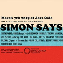 Simon Says 2019 at Jazz Cafe on Thursday 7th March 2019