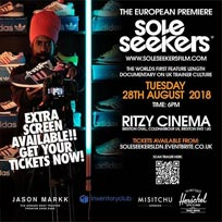 Soleseekers European Premiere  at The Ritzy on Tuesday 28th August 2018