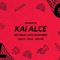 Soul City w/ Kai Alce at Jazz Cafe on Saturday 25th November 2017