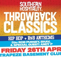 Throwback Classics at Trapeze on Friday 26th April 2019