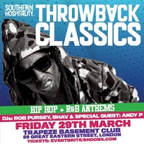 Throwback Classics at Trapeze on Friday 29th March 2019