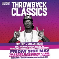 Throwback Classics at Trapeze on Friday 31st May 2019