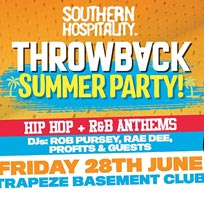 Throwback Summer Party at Trapeze on Friday 28th June 2019