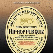 Spin Doctor's Hip-Hop Pub Quiz at Book Club on Thursday 21st June 2018