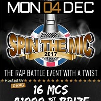 Spin the Mic at Scala on Monday 4th December 2017