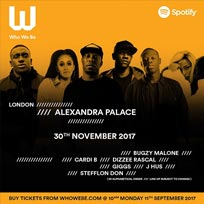 Who We Be Live at Alexandra Palace on Thursday 30th November 2017