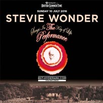 Stevie Wonder at Hyde Park on Sunday 10th July 2016