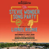 Stevie Wonder at Hyde Park on Saturday 6th July 2019
