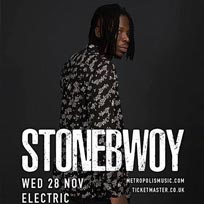 Stonebwoy at Electric Brixton on Wednesday 28th November 2018
