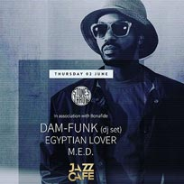 Dam Funk + Egyptian Lover + MED at Jazz Cafe on Thursday 2nd June 2016