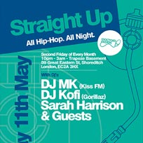 Straight Up at Trapeze on Friday 11th May 2018