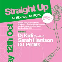 Straight Up at Trapeze on Friday 12th October 2018