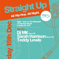 Straight Up at The Macbeth on Saturday 15th December 2018
