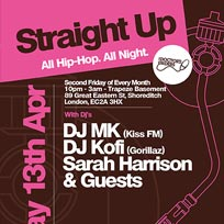 Straight Up at Trapeze on Friday 20th April 2018