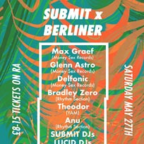 Submit x Berliner at Brixton Jamm on Saturday 27th May 2017