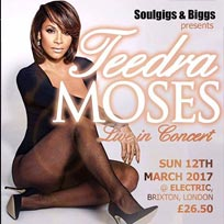 Teedra Moses at Electric Brixton on Sunday 12th March 2017