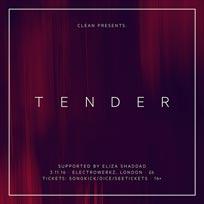Tender at Electrowerkz on Thursday 3rd November 2016