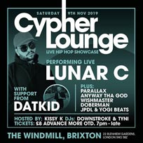 The Cypher Lounge at The Windmill Brixton on Saturday 9th November 2019