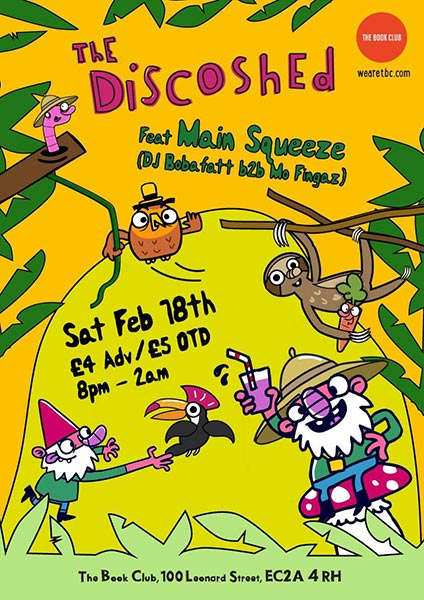 Disco Shed at Book Club on Saturday 18th February 2017
